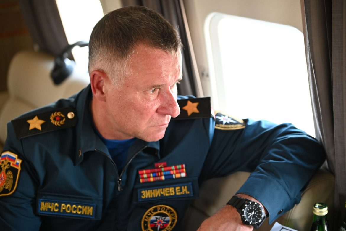 Russian emergency minister dies while rescuing a man during training exercise