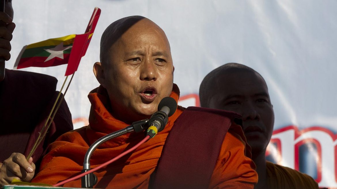 Myanmar military government releases Buddhist monk Ashin Wirathu, accused of 'spreading hatred' against Rohingyas